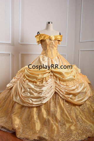 Belle Sparkly Dress, Princess Belle Costume Adult Plus Size