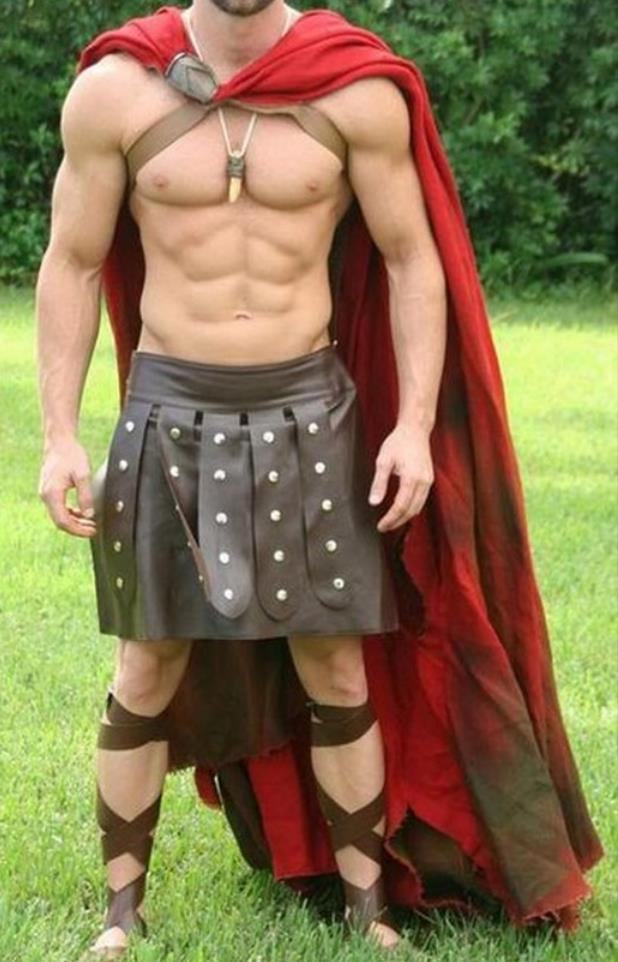 Spartan costume for male gladiator cosplay costume