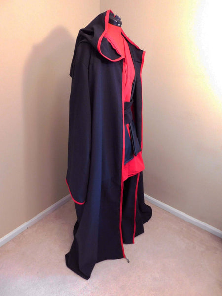 Star Wars Red Sith Robe, Tunic, Obi and Tabbard Costume for adults