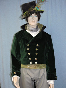 Steampunk Victorian tailcoat vest waistcoat shirt pants or breeches lace jabot or cravat and hat