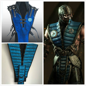 Sub Zero tabard Mortal Kombat blue tabard adults