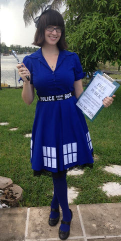 Tardis Costume Tardis dress plus size for male female or kids