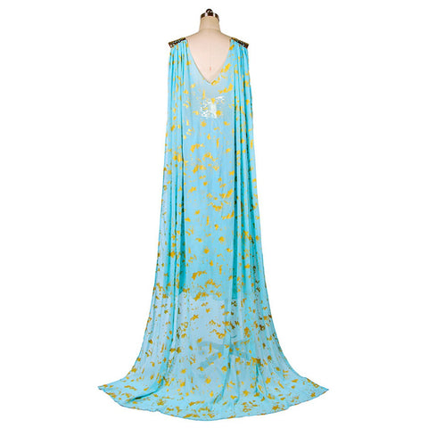 The Game of Thrones Daenerys Targaryen Blue Dress Cospaly Costume