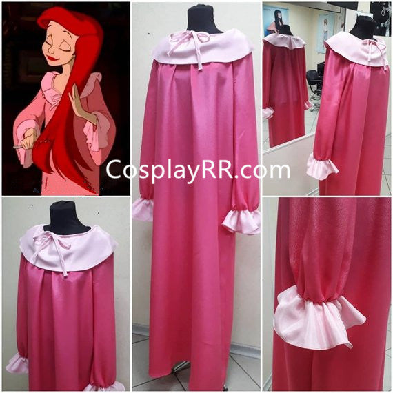 The Little Mermaid Ariel Pink Costume Adults Plus Size