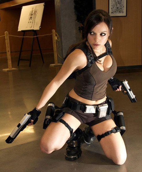 Tomb Raider Lara Croft Costume Cosplay gun holster for Women