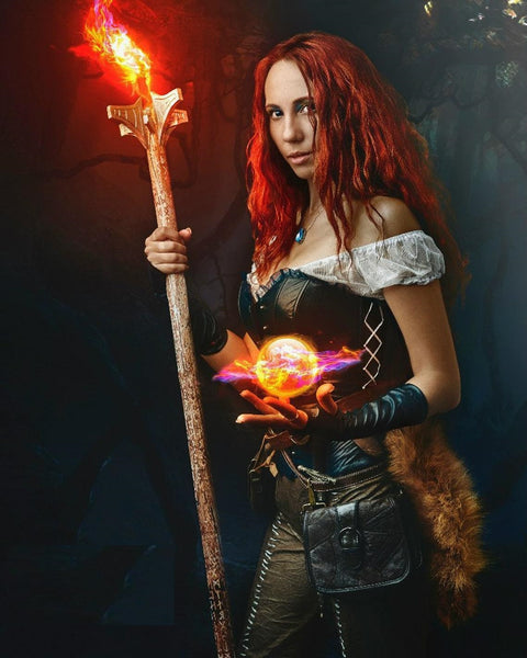 Triss Merigold The Witcher saga costume Triss Merigold Leather Outfit