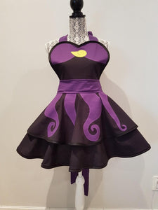 Ursula Costume Little Mermaid costume Evil Apron Retro cosplay apron