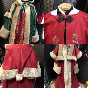 Victorian Father Christmas Robe Santa Robe for Women Red Version