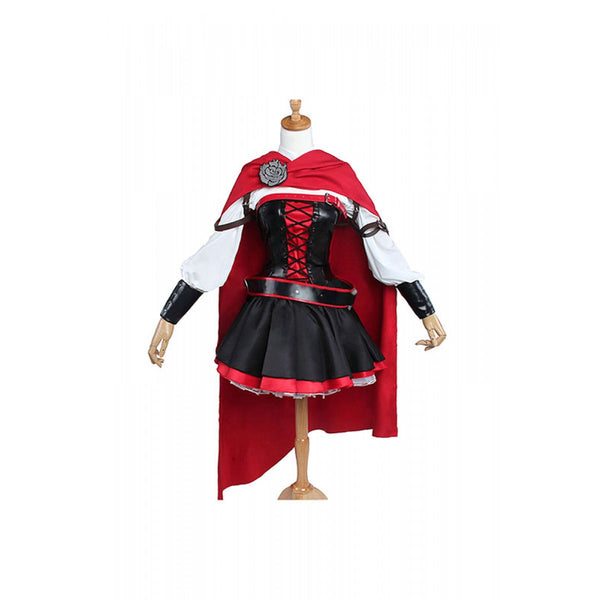 Volume 4 Ruby Rose Costume with a red cloak