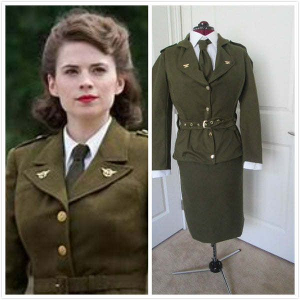 World War II Military Uniform Cosplay Costume 1940's Outfit Womens Military Outfit