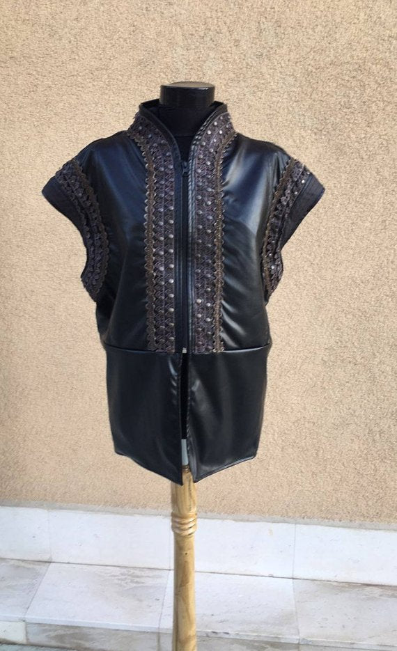 Xena:Warrior Princess Costume Ares Cosplay Leather Vest for Female