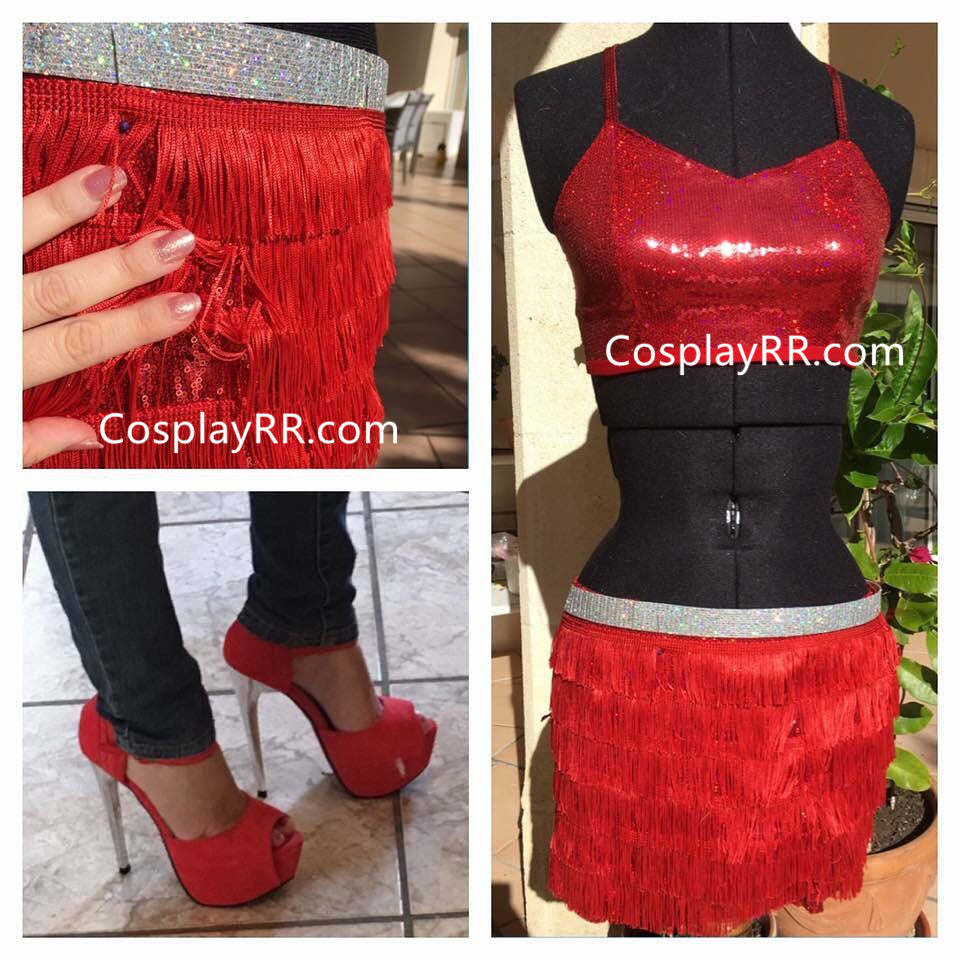 Zootopia Gazelle red cosplay outfit Costume