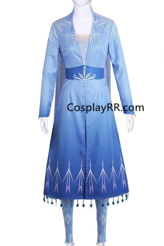 Frozen 2 Elsa Outfit, Elsa's Dress Frozen 2 Costume for Adults