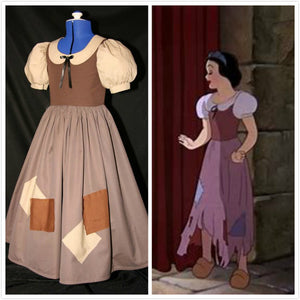 Snow White Rags Dress - Rags Costume for Cosplay Halloween