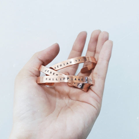 Custom Copper Bangle