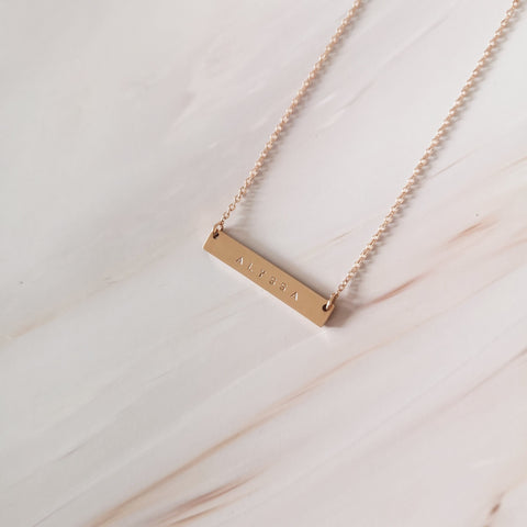 Custom Horizontal Bar Necklace