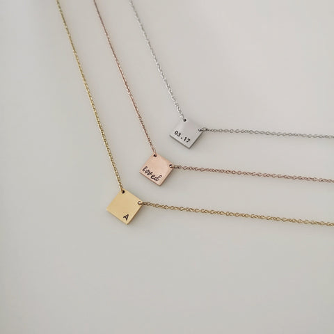 Square Tag Necklace