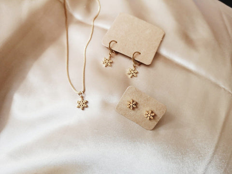 Snowflake Necklace / Studs / Hoops (Holiday Exclusive)