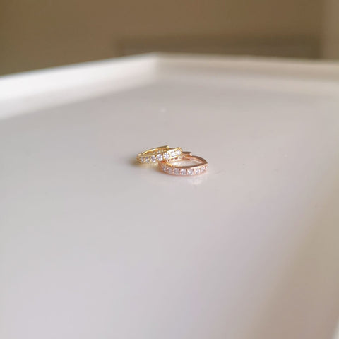 Dainty Diamond Hoop
