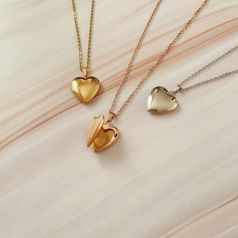 Agape Heart Locket Necklace