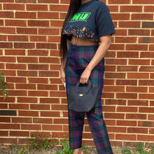 Load image into Gallery viewer, Silk Plaid Trousers