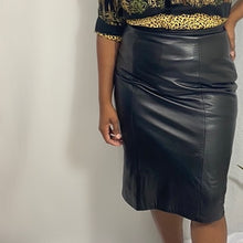 Load image into Gallery viewer, Leather Pencil Skirt