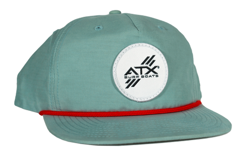 ATX Surf Boats Rope Hat - Seafoam/Red