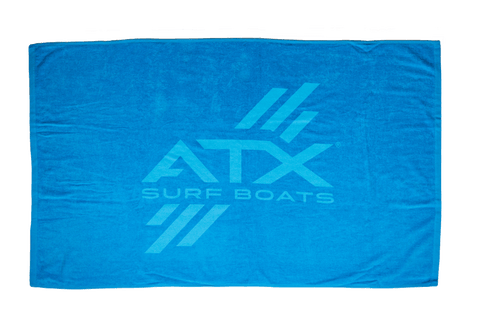 "ATX Surf Boats Blue Beach Towel - 35""x60"""