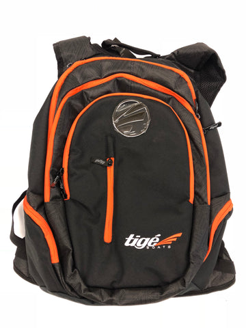 Tige Boats Black/Orange Custom Back Pack