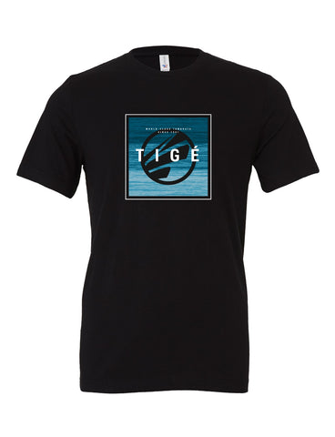 Tige Square - Heather Black Tee