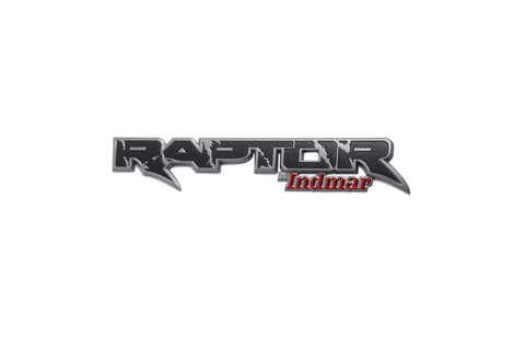"Raptor by Indmar Badging 12""X2"""