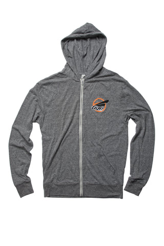 SALE: Lightweight Hoodie Gray Triblend - Tige Circle Logo