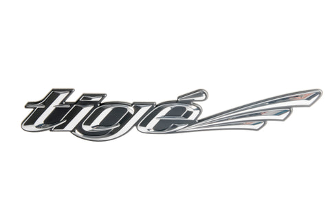 Small Tige Chromax Logo Decal - Chrome