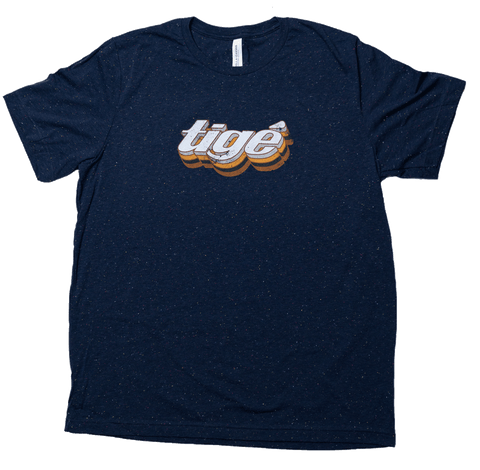 Speckled Navy Tige Tee