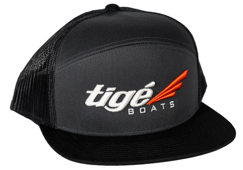 Tige Boats 7 Panel Trucker - Black (Mesh Back)