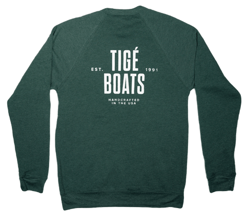 Tige Boats Sweatshirt - Heather Forest