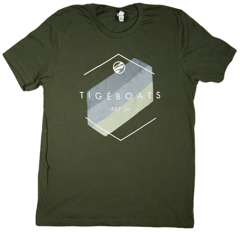 Tige Hexagon Tee - Military Green