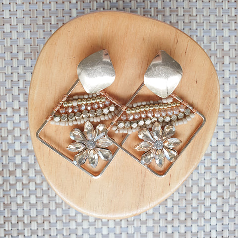 Taimani earrings - Brown