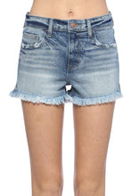 Load image into Gallery viewer, Halsey High Rise Fray Hem Shorts