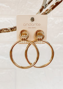 RESTOCK: Gold Interlocking Hoop Earrings