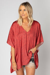 BuddyLove: North Flowy Tunic - Red Python