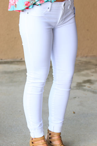 Articles of Society - Sarah Skinnies - White - ellies-clothing-boutique