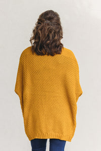 Ellis Knit Cardigan - Mustard