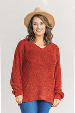 Load image into Gallery viewer, Piper Popcorn Sweater - Rust