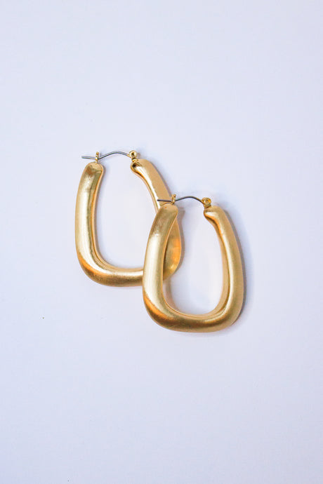 RESTOCK: Square Gold Hoops