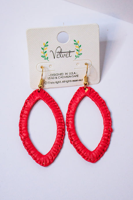 Wrapped Earring - Red