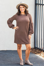 Load image into Gallery viewer, Nadia Sweater Dress - Mocha