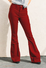 Load image into Gallery viewer, Valerie High Rise Flares - Burgundy