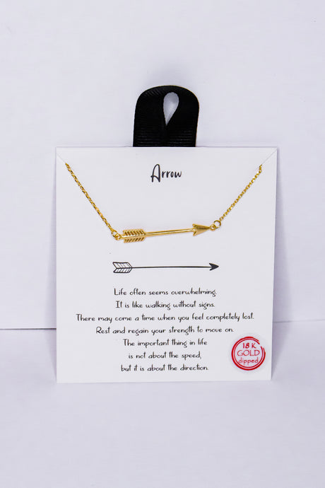 Arrow Necklace - Gold