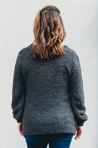 Piper Popcorn Sweater - Charcoal